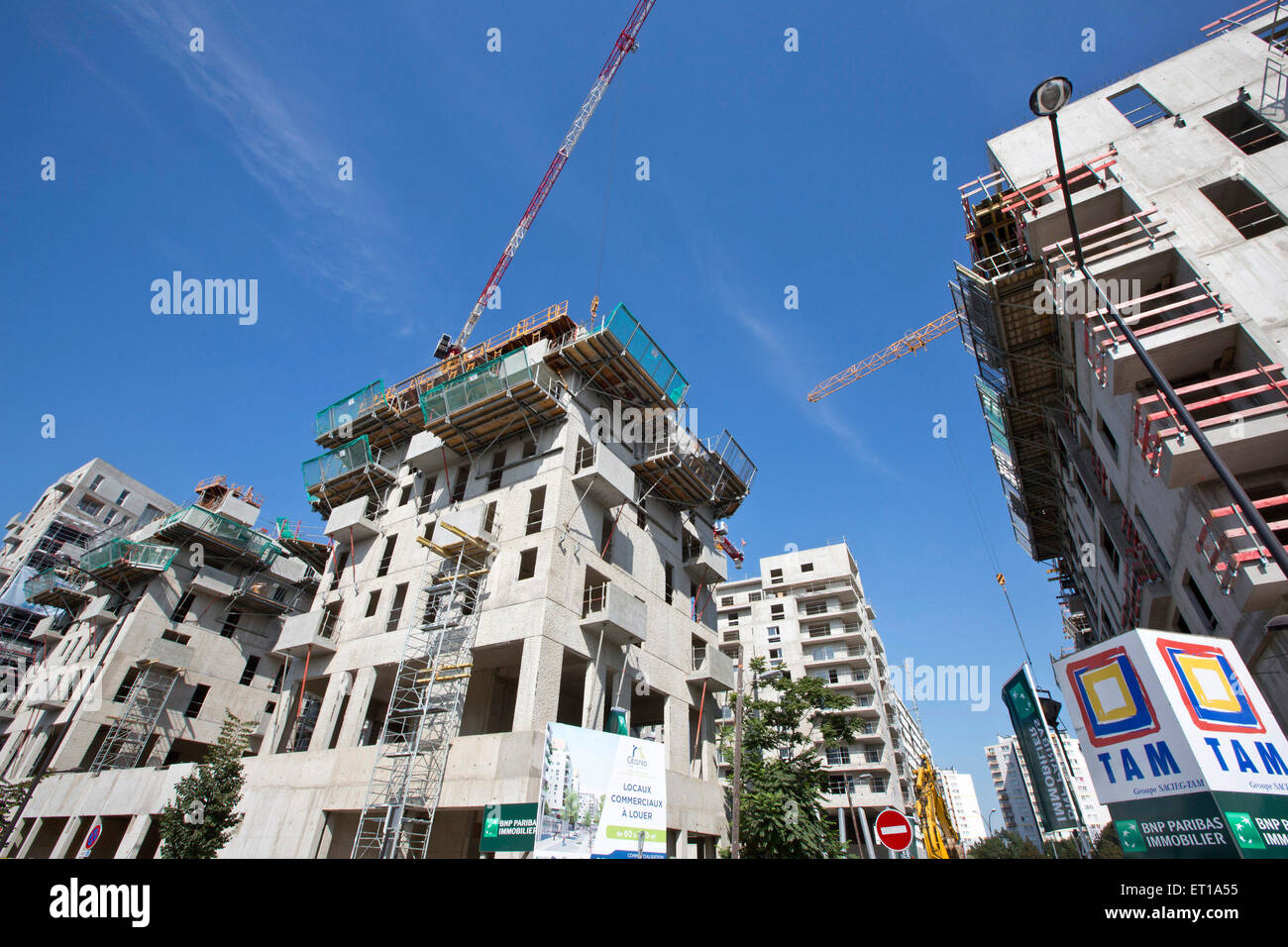 Real Estate in Paris and surrounding Stock Photo