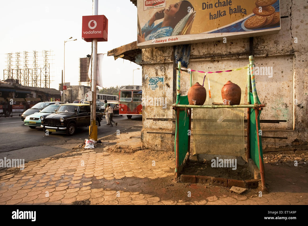 Drinking water pots on tenth day of muharram or ashura ; Bombay Mumbai ; Maharashtra ; India - Stock Image