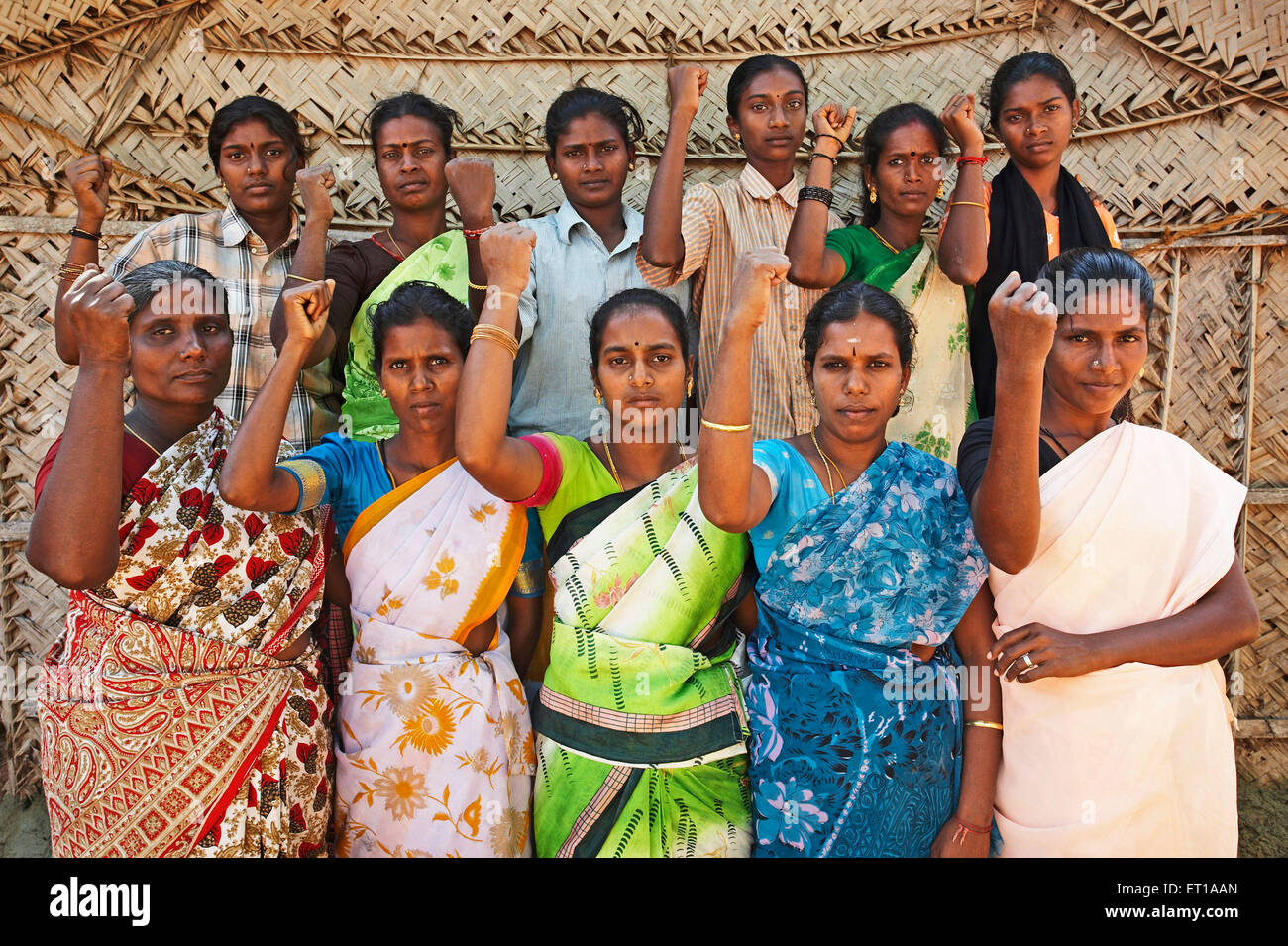 Members of Micro Credit Finance group an economic initiative started by NGO Chinmaya Organization of Rural Development - Stock Image