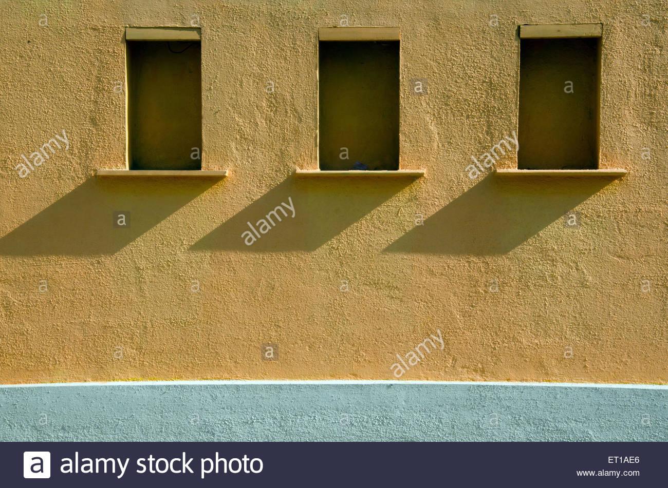 shelves on wall Pune Maharashtra India Asia - Stock Image