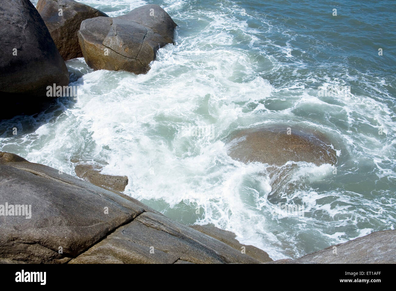 Sea water waves disturbance ; Agonda ; Goa ; India - Stock Image
