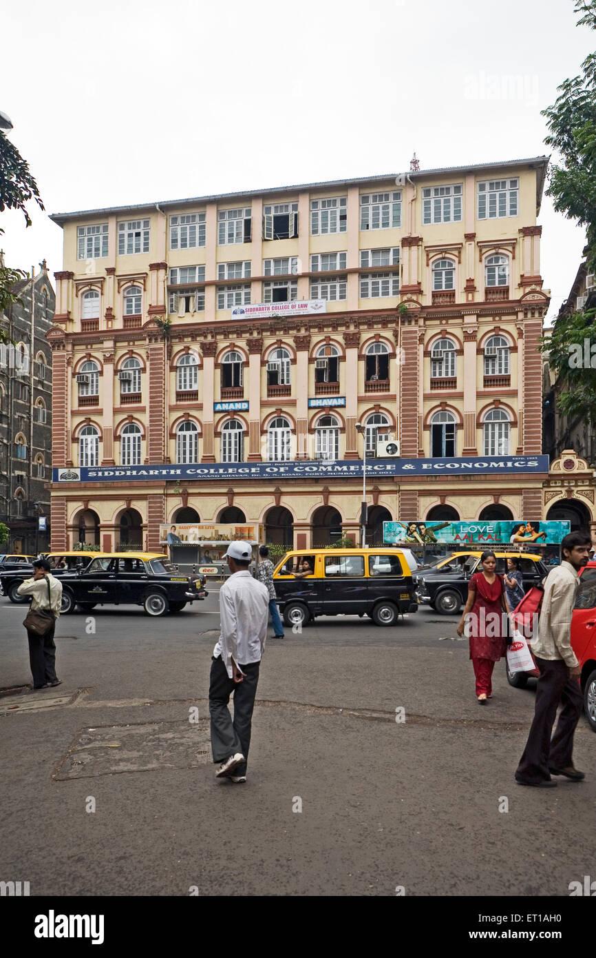 Siddharth College of Commerce & Economics in Mumbai Maharashtra - Stock Image