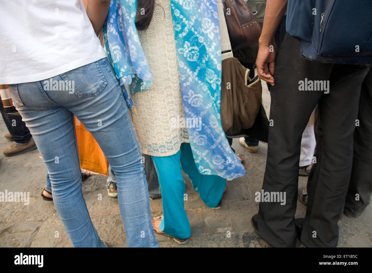 3rd December ; young students Gateway protesting against terror attacks 26th November 2008 in Bombay - Stock Image