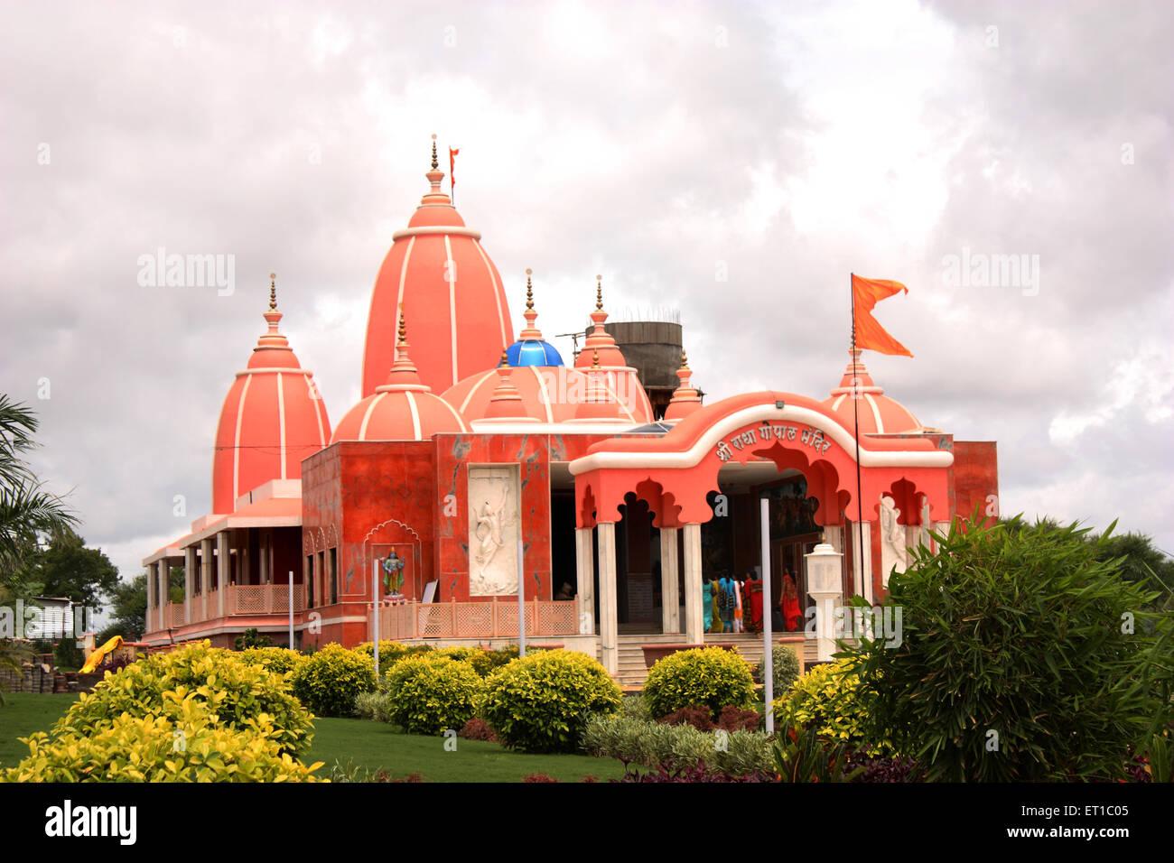Hare krishna temple Iskcon Narwade Sangli Maharashtra India Stock Photo