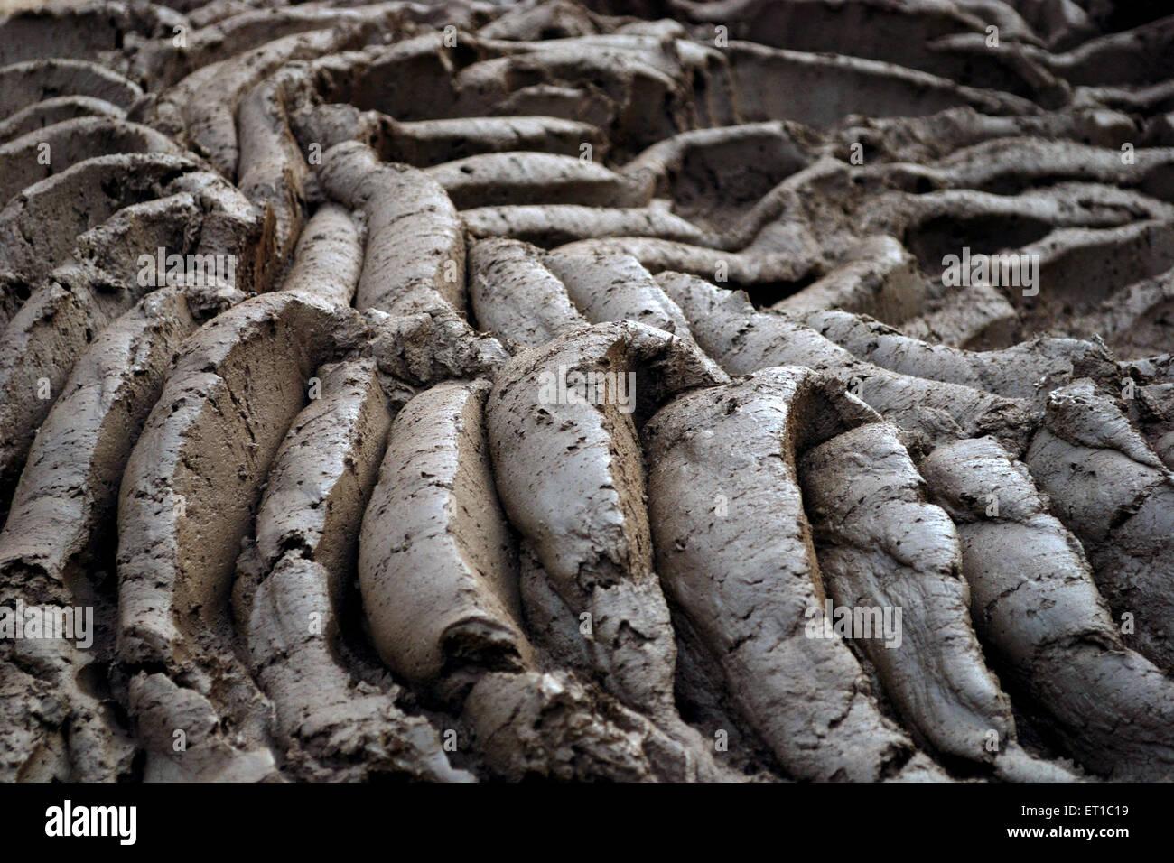 Crushed soil Jodhpur Rajasthan India Asia - Stock Image