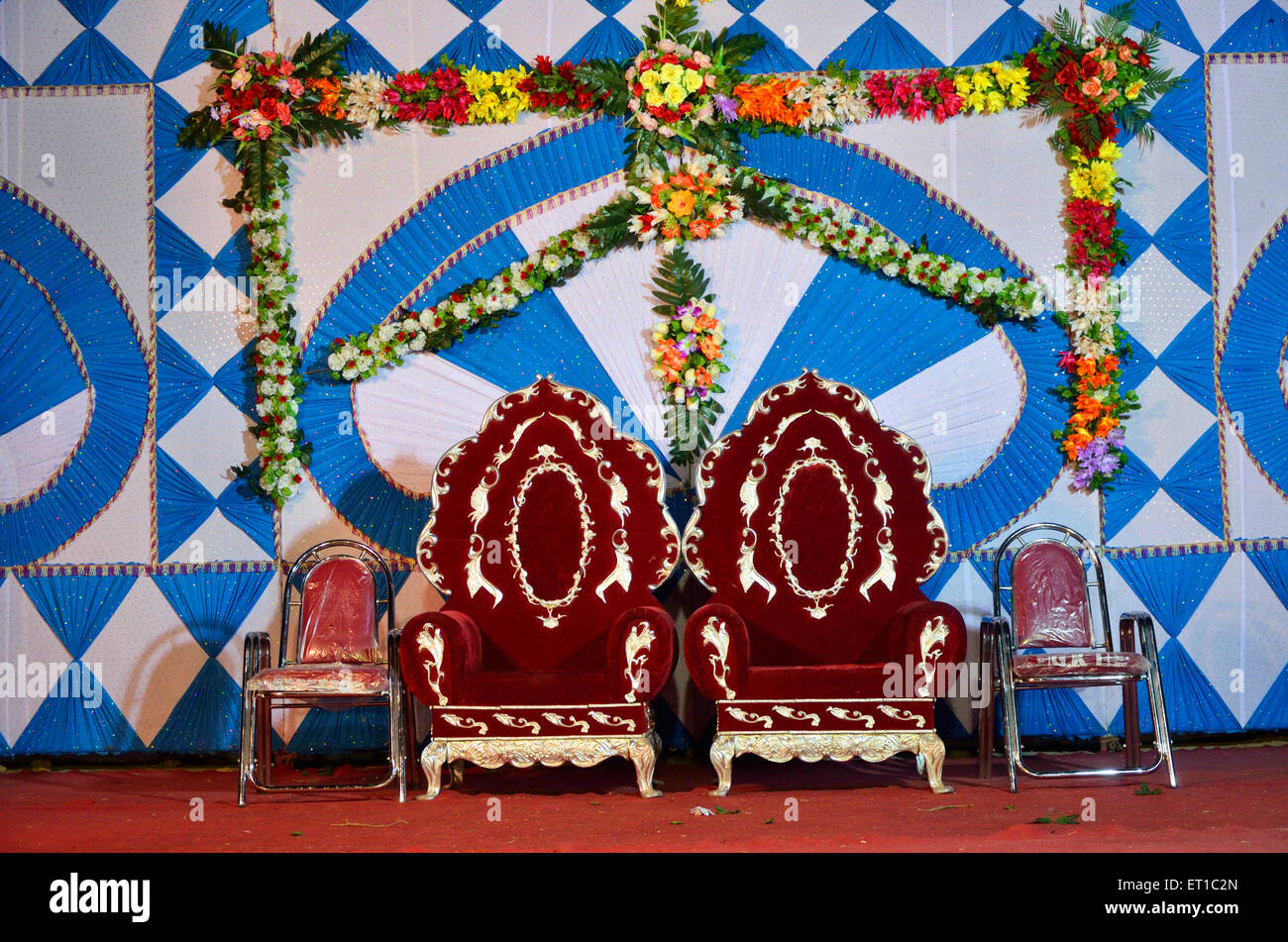 Stage decoration stock photos stage decoration stock images alamy indian marriage stage decoration sirohi rajasthan india asia stock image junglespirit Gallery