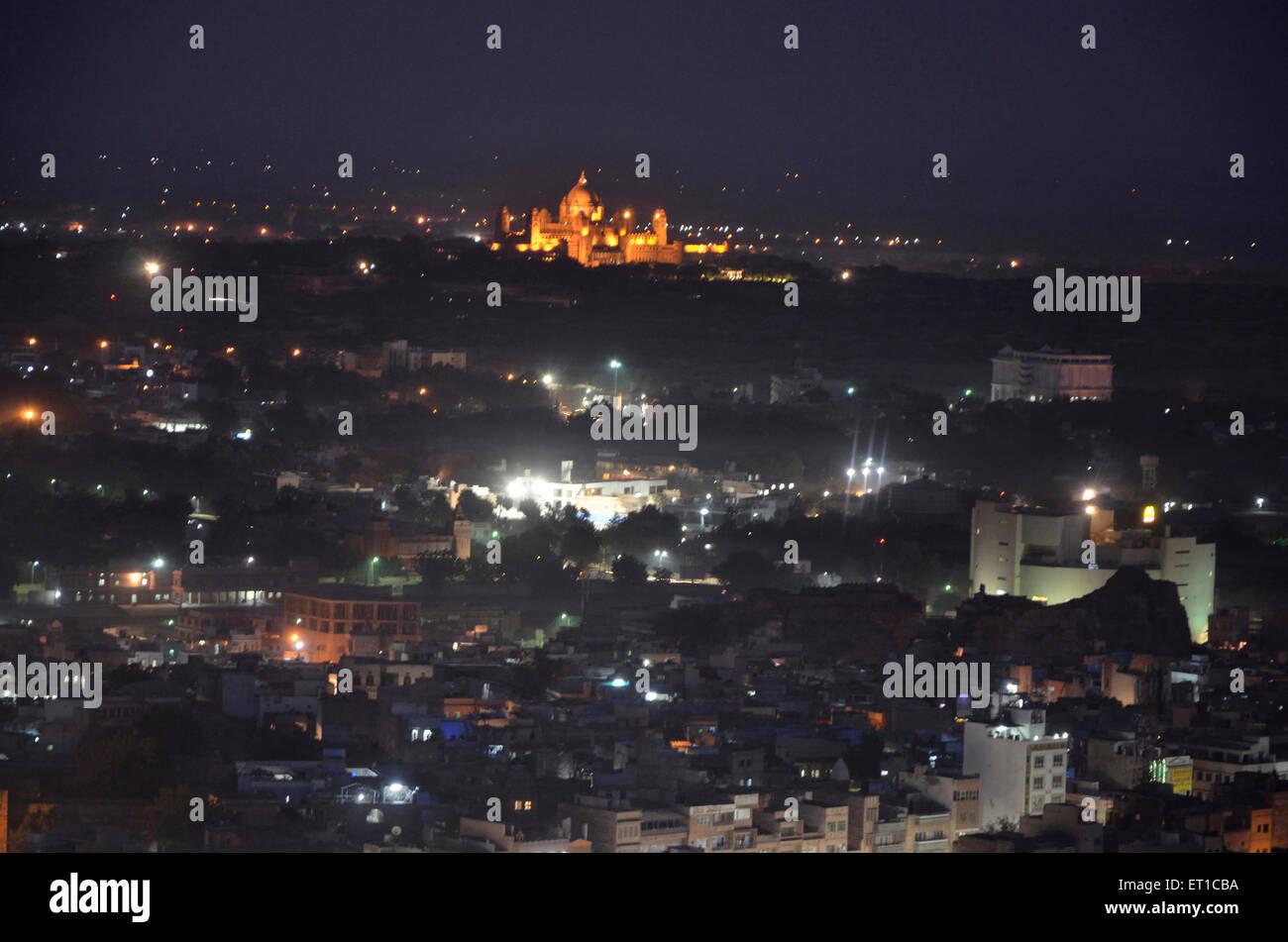 Palace of Jodhpur Rajasthan India Asia - Stock Image