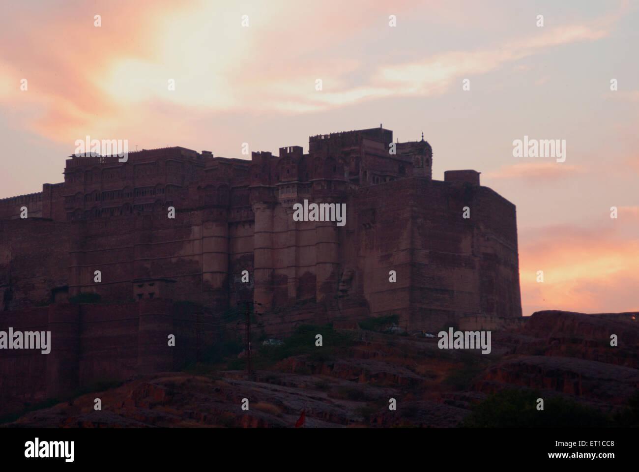 Mehrangarh Fort Jodhpur Rajasthan India Asia - Stock Image