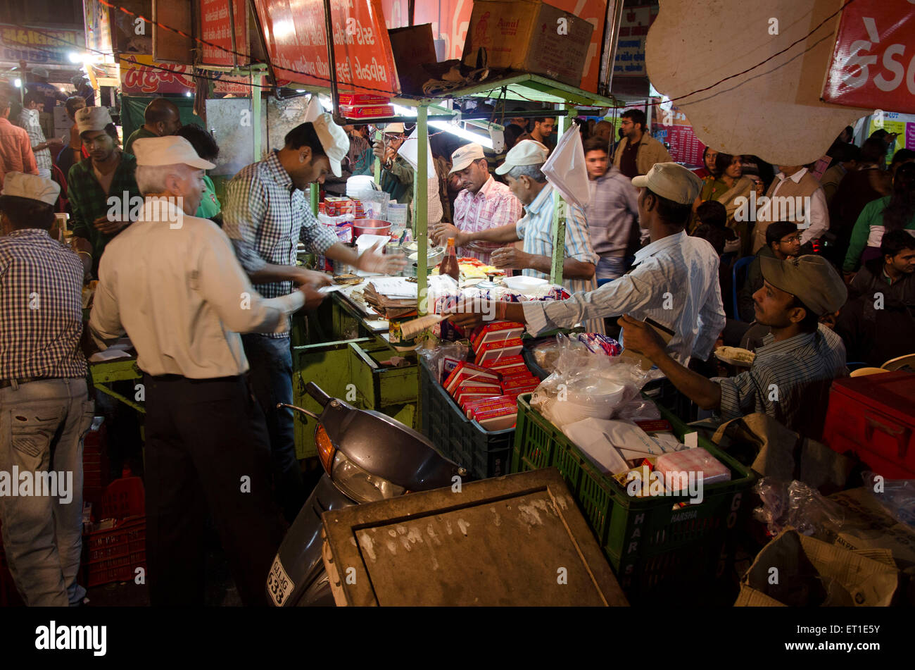 food stall Ahmedabad Gujarat India Asia - Stock Image