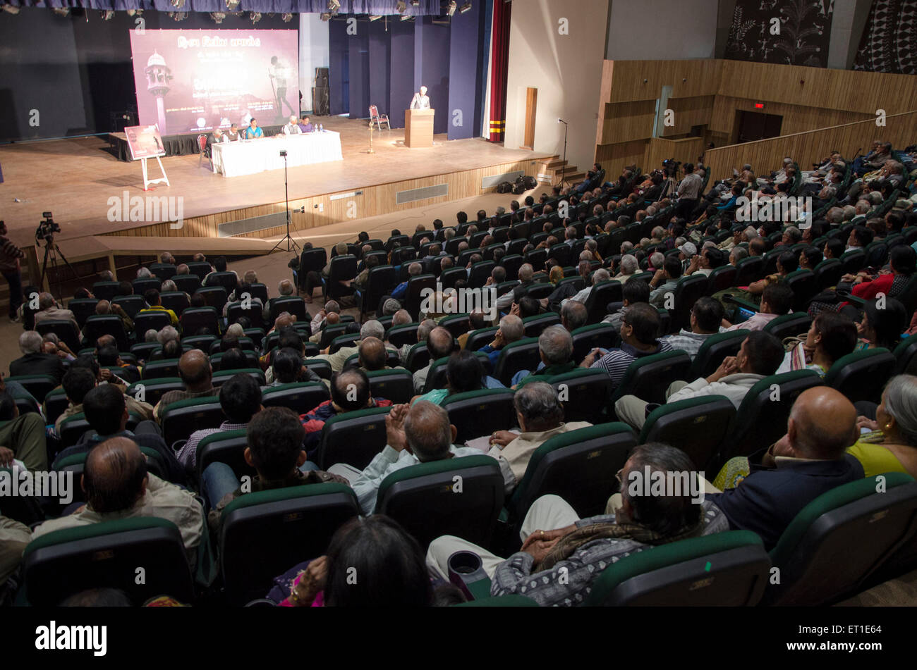 Audience in Tagore Hall Ahmedabad Gujarat India Asia - Stock Image