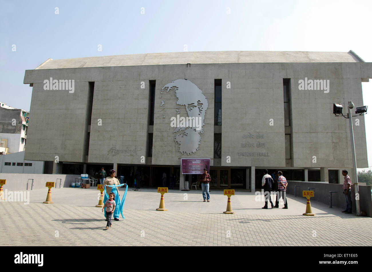 Tagore Hall Ahmedabad India Asia - Stock Image
