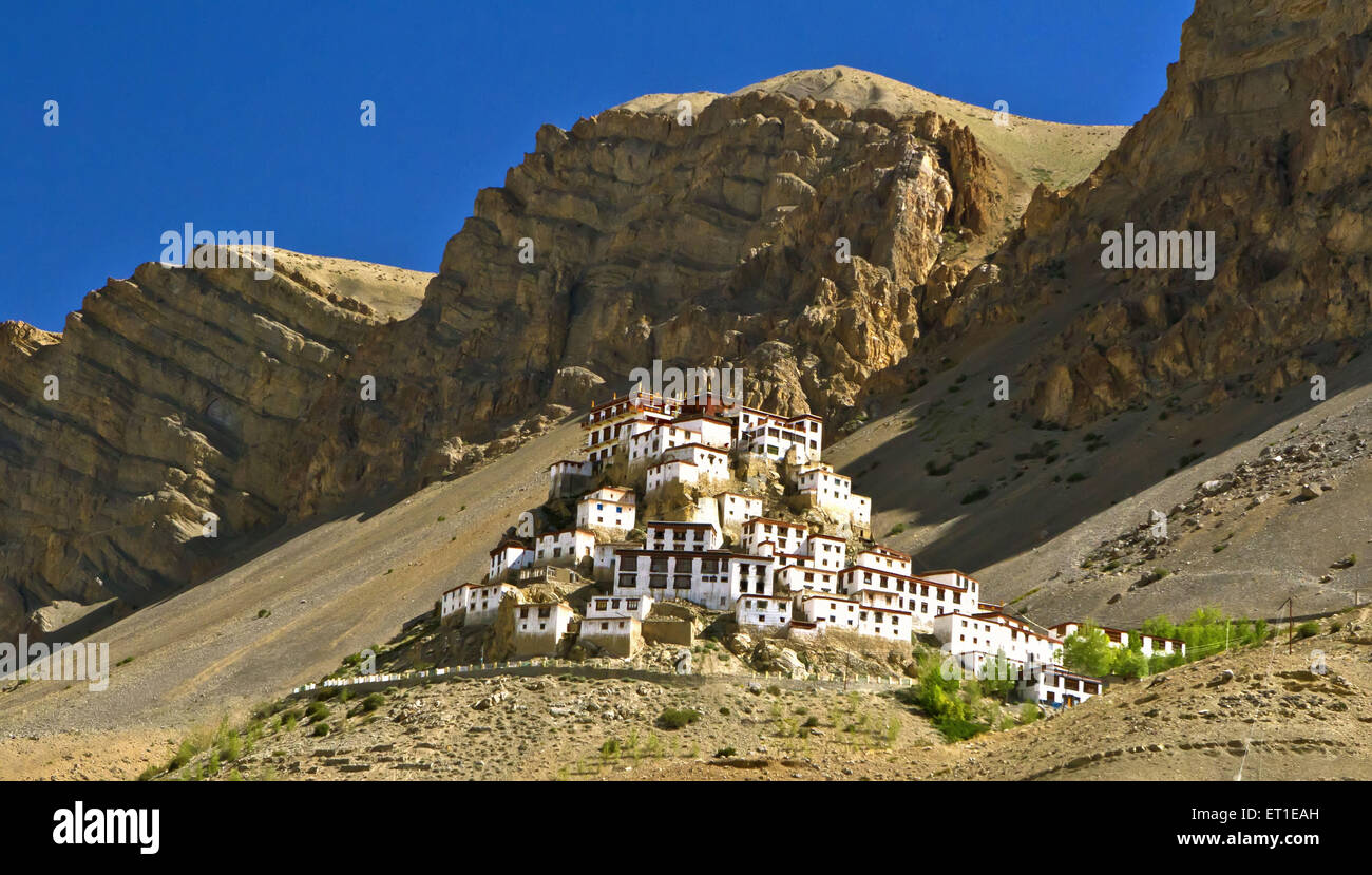 Ki Monastery at Himachal Pradesh India - Stock Image