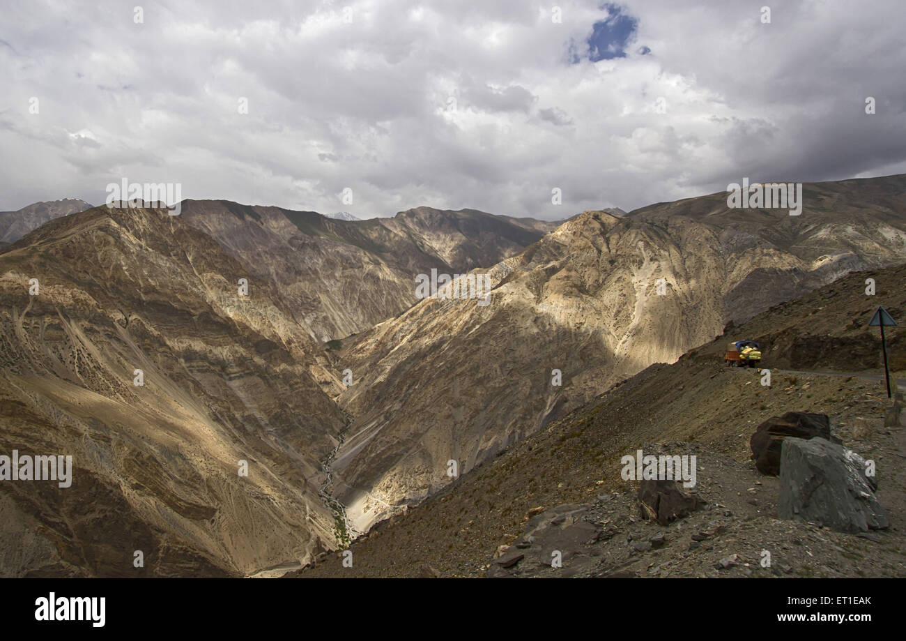 Spiti Valley at Himachal Pradesh India Stock Photo