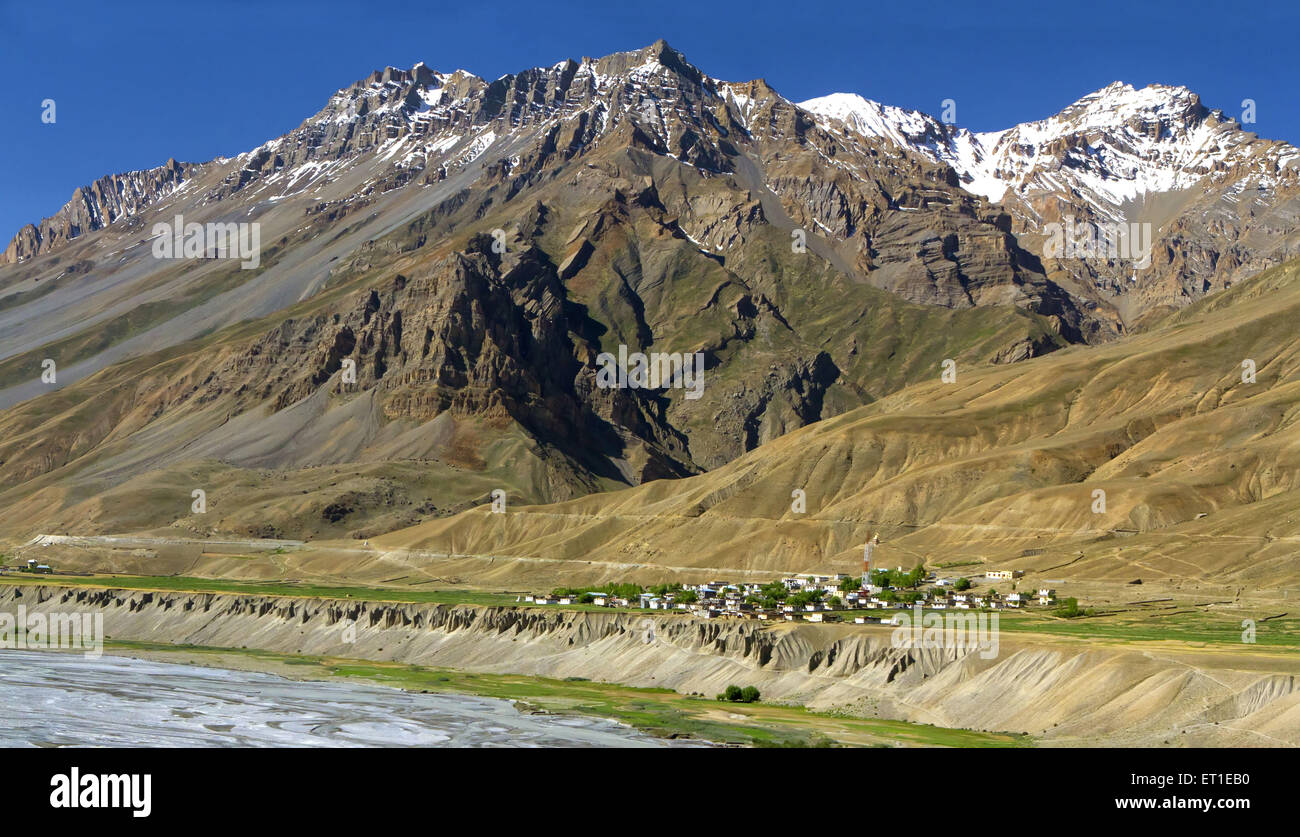 Spiti Valley at Himachal Pradesh India - Stock Image
