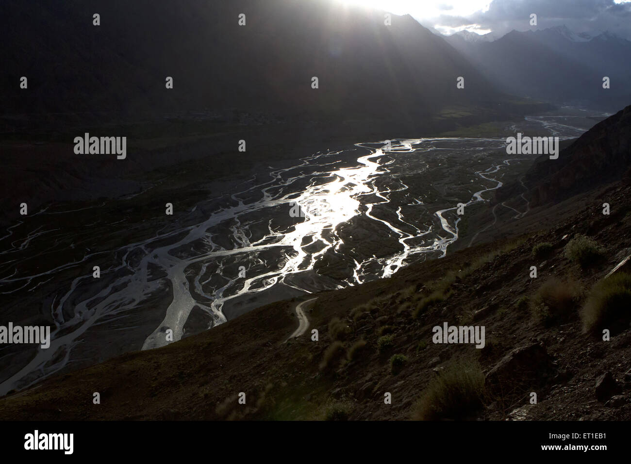 Spiti Valley at Himachal Pradesh India - Stock Image