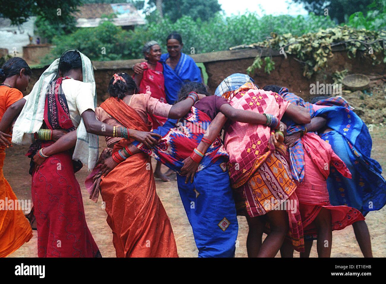 Tribal dance ; gaund madia ; Chhattisgarh ; India - Stock Image
