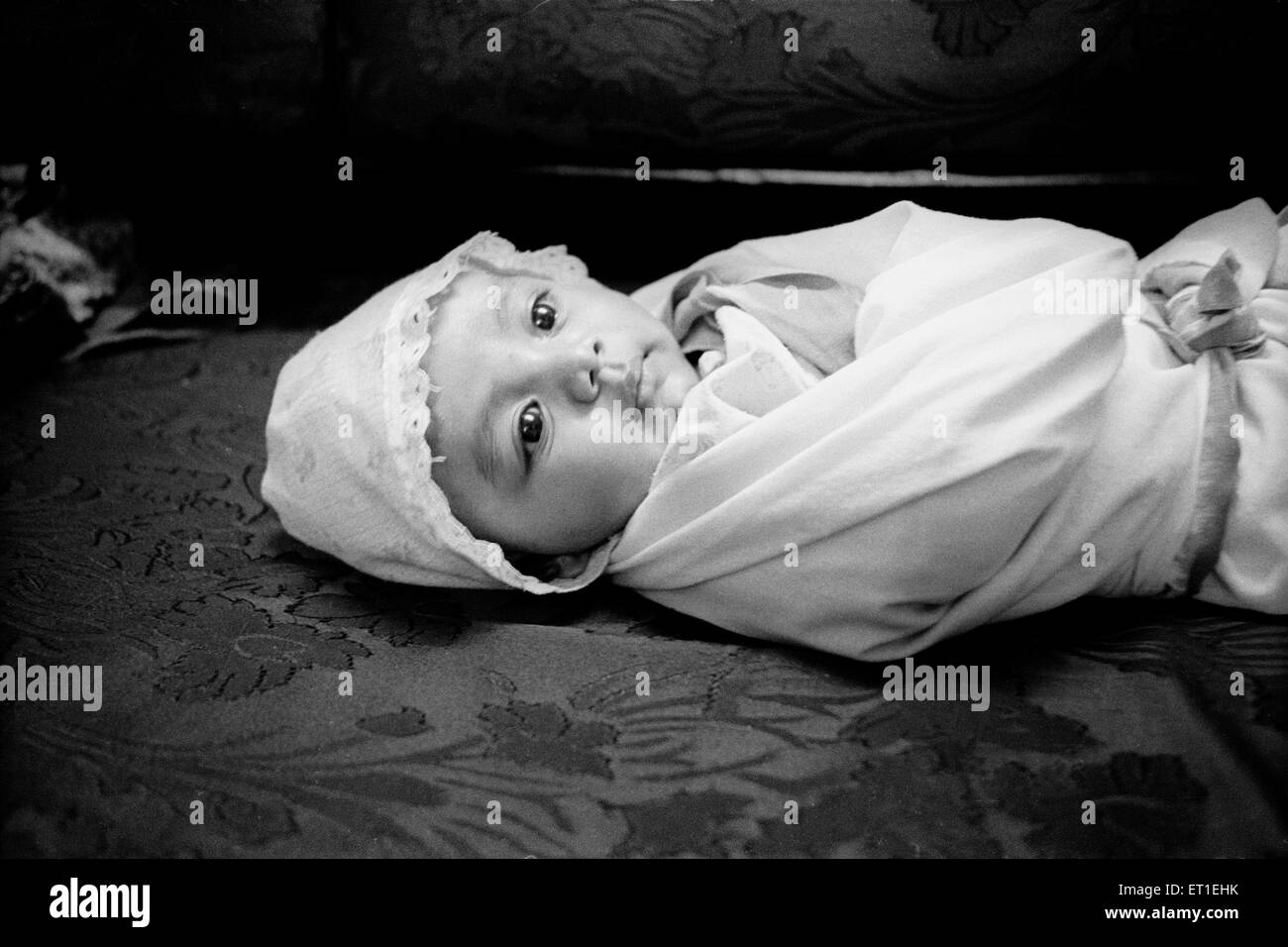 New born baby ; India MR#400 - Stock Image