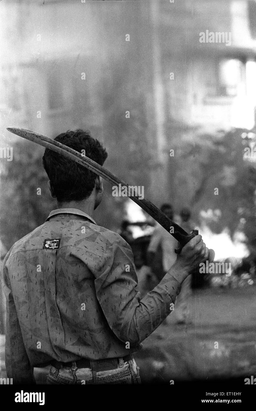 Communal riots ; Bombay Mumbai ; Maharashtra ; India - Stock Image