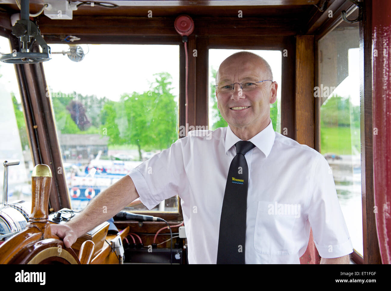 John Woodburn, Operations Director for Windermere Lake Cruises,, Lake Windermere, Lake District National Park, Cumbria - Stock Image