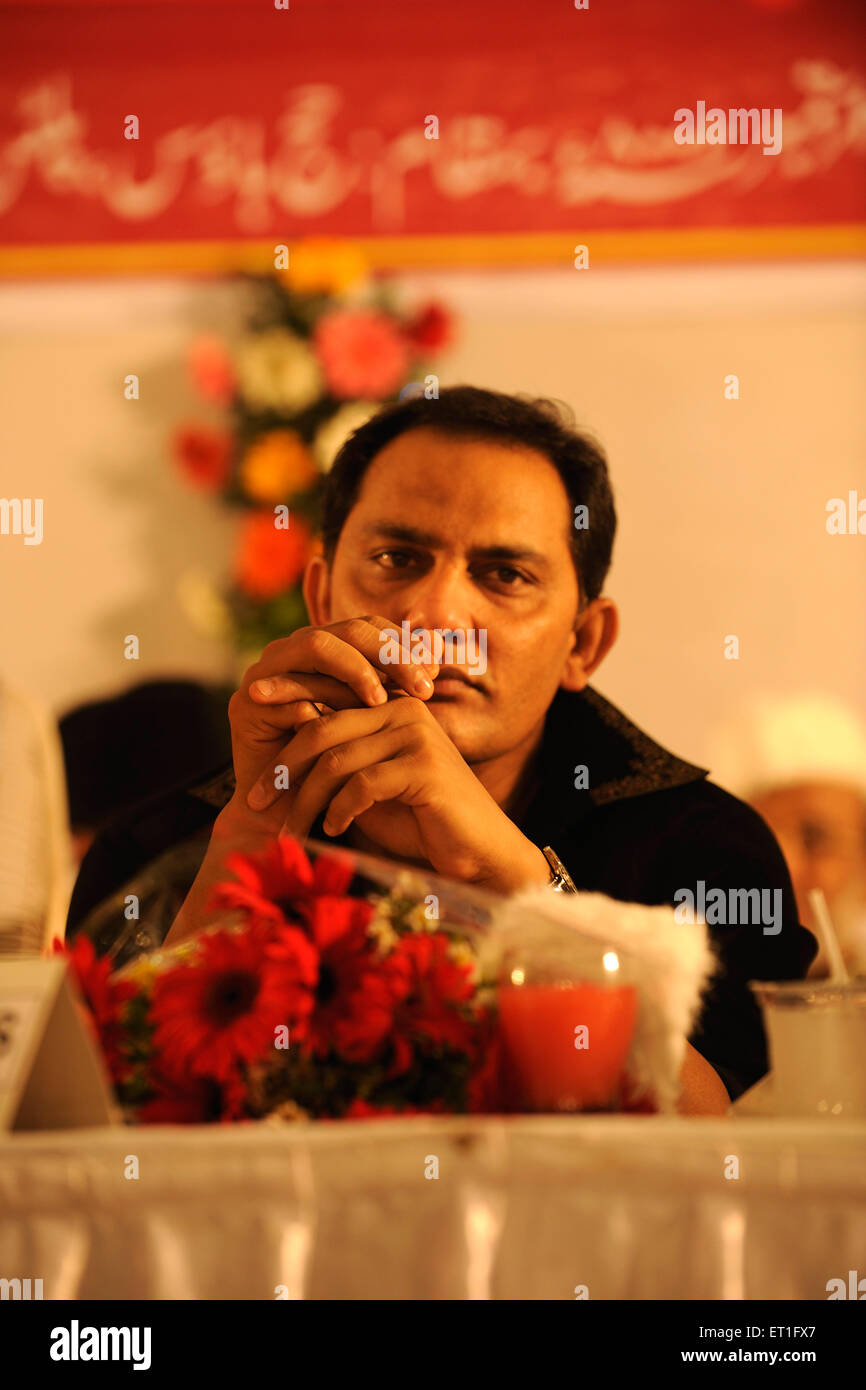 Mohammad Azharuddin former captain of Indian cricket team now member of Indian national congress ; India NO MR Stock Photo