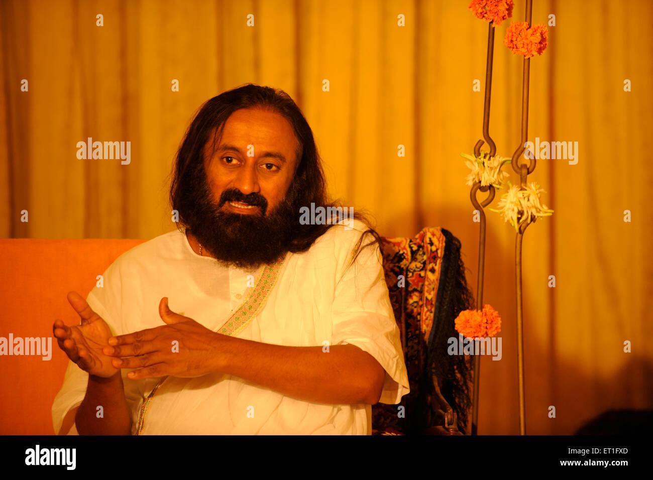 Sri Sri Ravi Shankar spiritual and humanitarian leader ; India NO MR - Stock Image