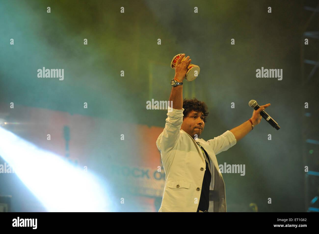 Kailash Kher singer of popular sufi music - Stock Image