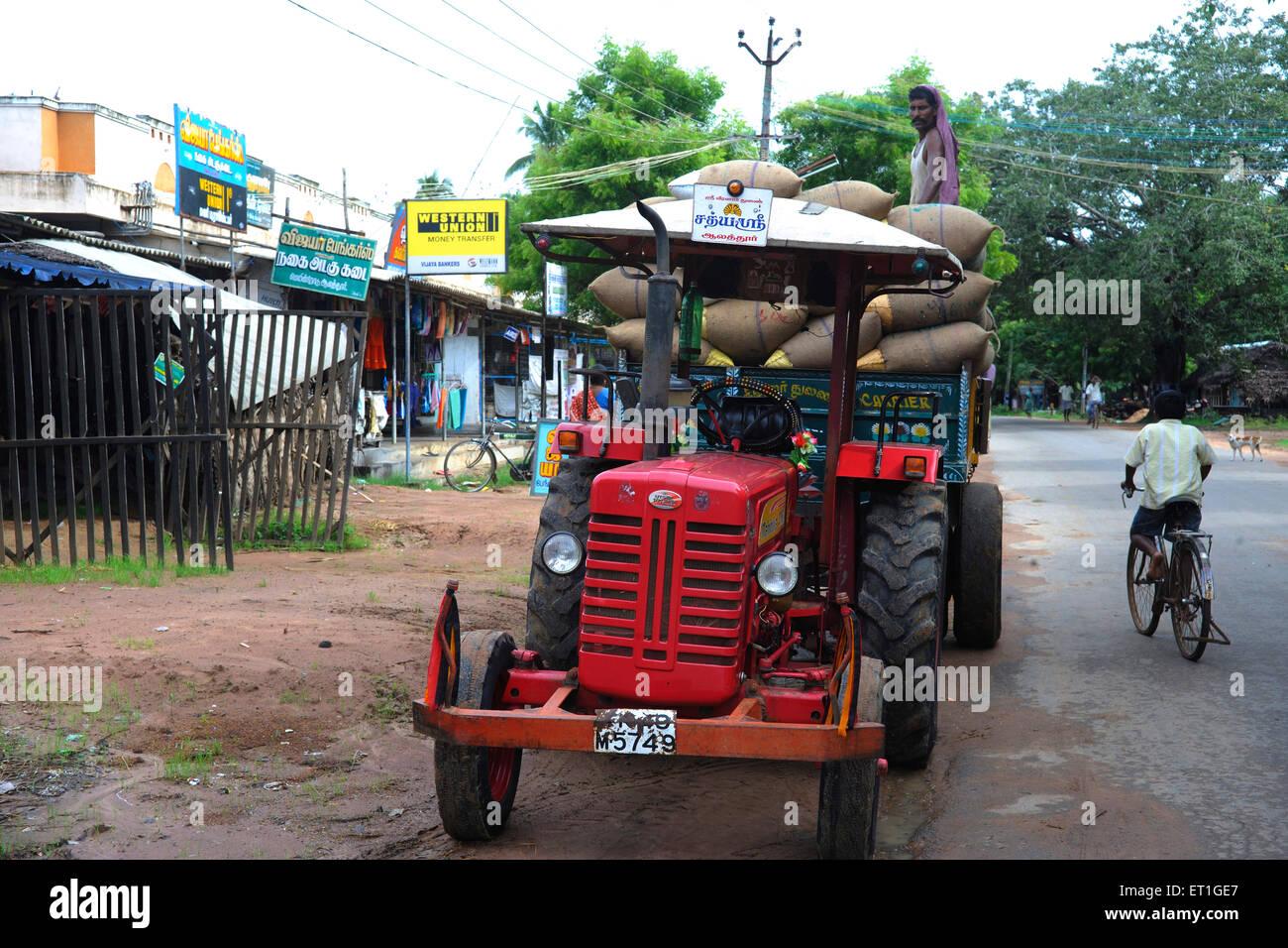 Tractor by ngo kshtriya gramin financial services by IFMR foundation ;  Thanjavur ; Tamil Nadu ;
