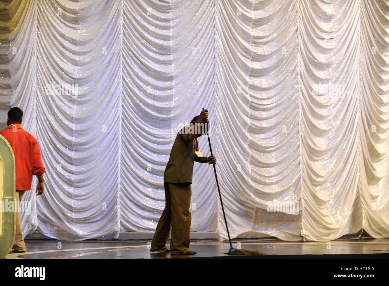 Preparation for filmfare awards ; Bombay Mumbai ; Maharashtra ; India 2009 - Stock Image