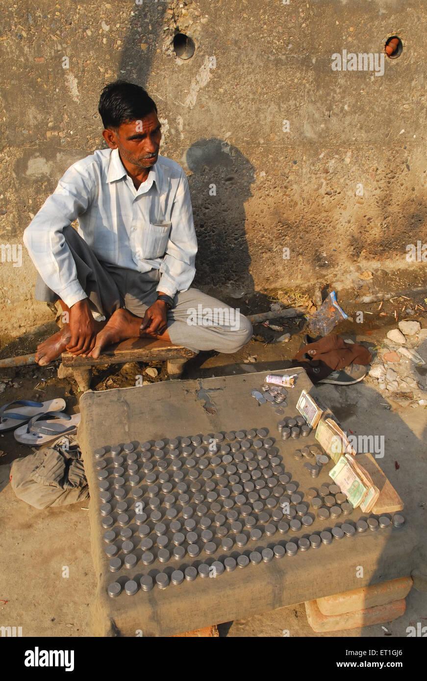 Money exchanger at Dharamshala ; Himachal Pradesh ; India NO MR - Stock Image