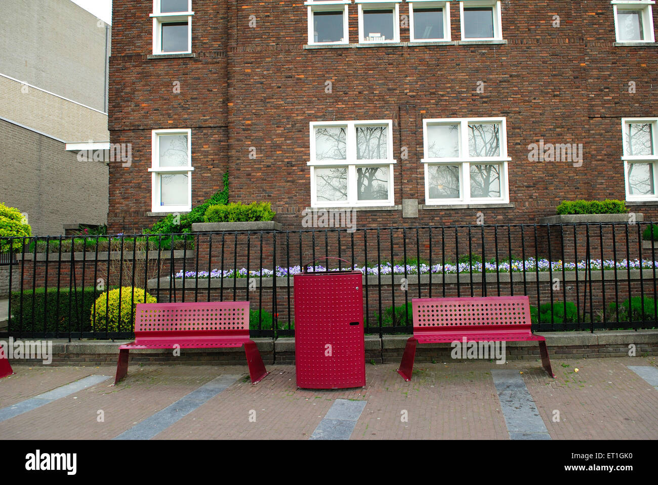 Sitting arrangement in residential area ; Germany - Stock Image