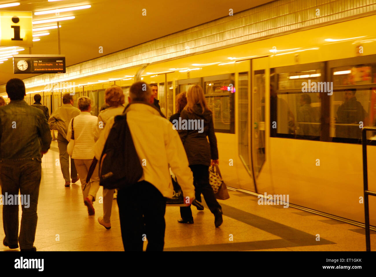 Inside subway station ; Berlin ; Germany - Stock Image