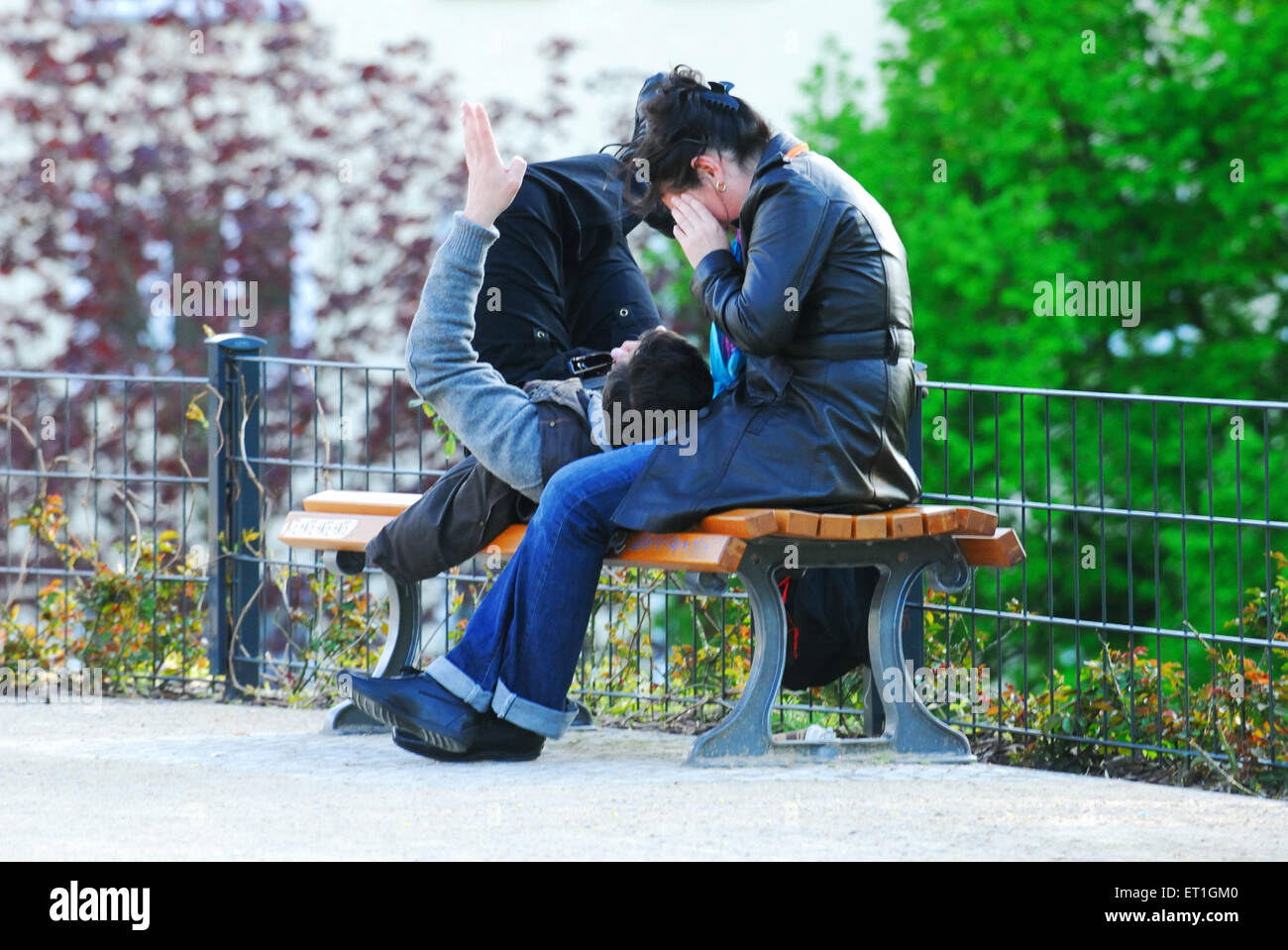 Moment togetherness of couples ; Germany - Stock Image