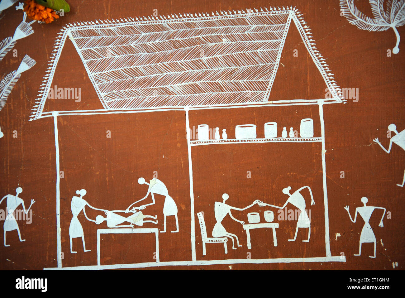Warli painting maharashtra india stock photo 83628320 alamy warli painting maharashtra india altavistaventures Image collections
