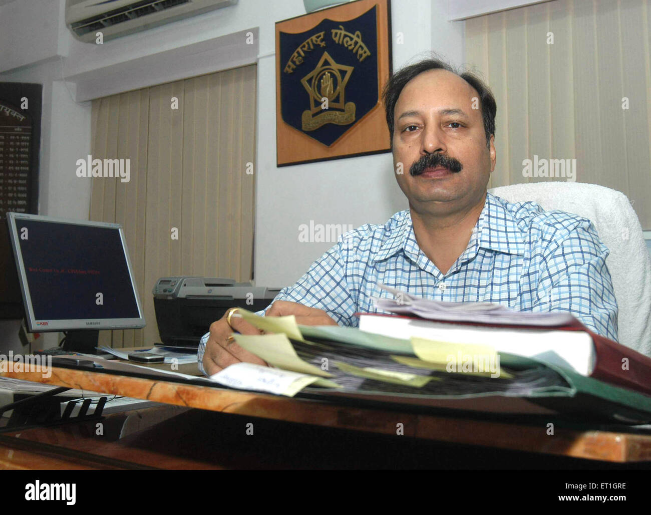 Anti Terrorism Squad chief hemant karkare ; India 14 July 2007 NO MR - Stock Image