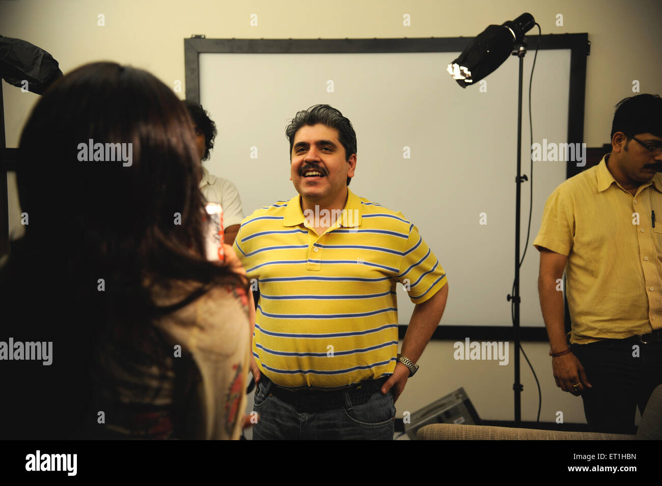 Film critic raju manad ; India NO MR - Stock Image