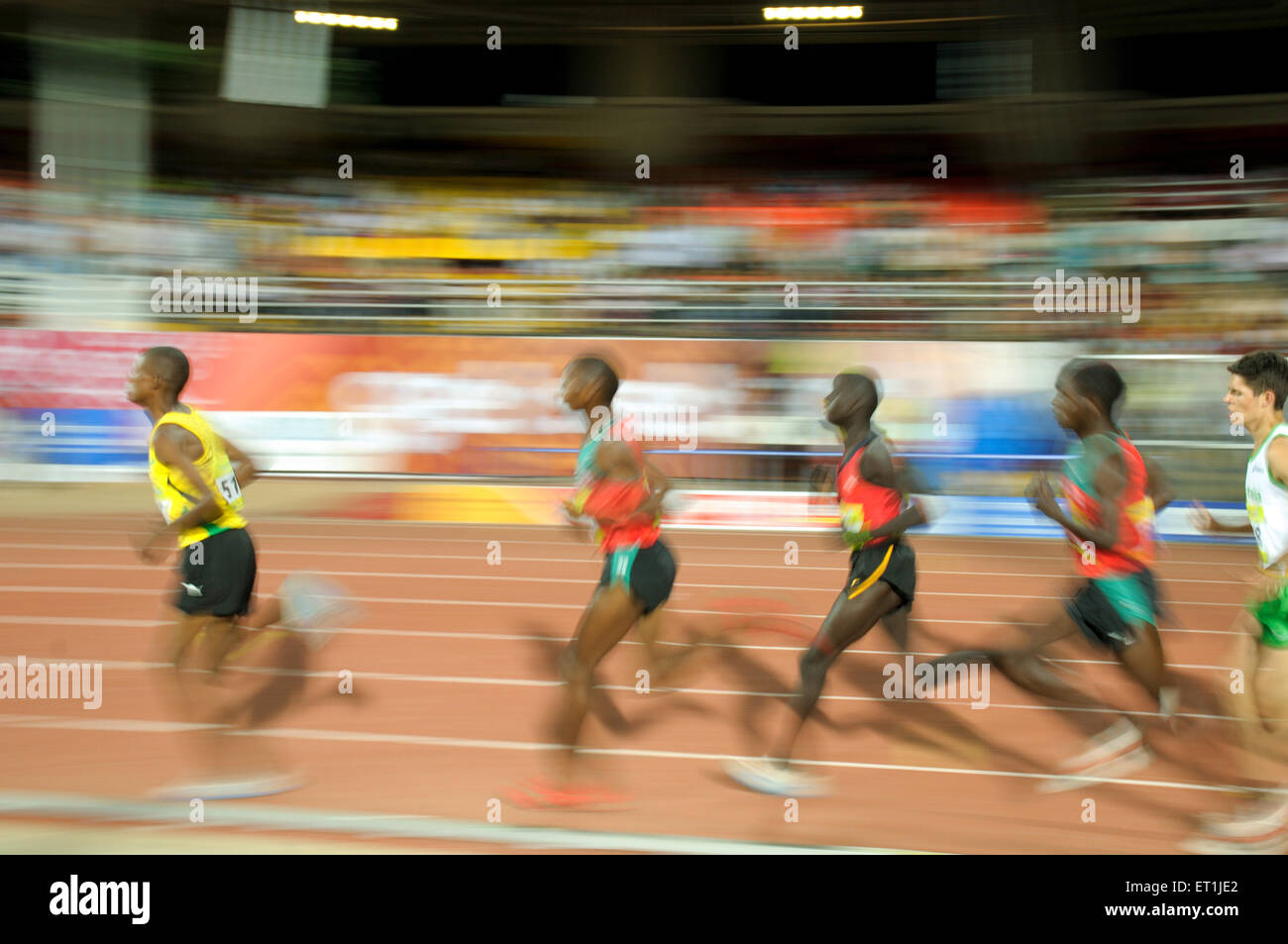 Athletes running ; Pune ; Maharashtra ; India 16 October 2008 NOMR - Stock Image