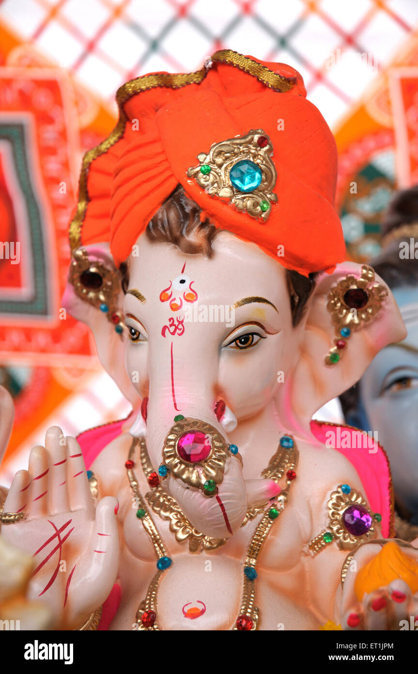 Lord Ganesh ; Pune ; Maharashtra ; India 23 August 2009 - Stock Image