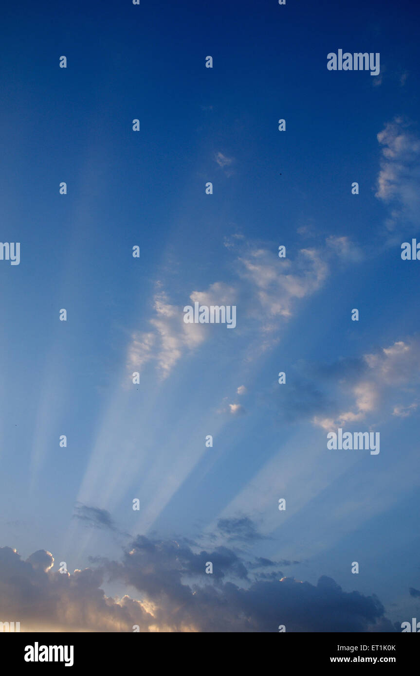 Cloud formation against blue skies ; 20 October 2009 - Stock Image