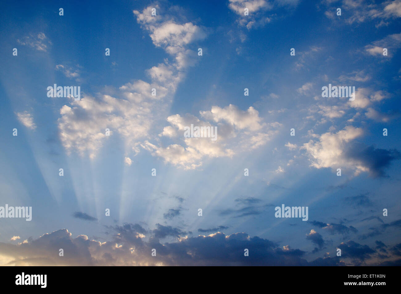 White cloud formation against blue skies ; 20 October 2009 - Stock Image