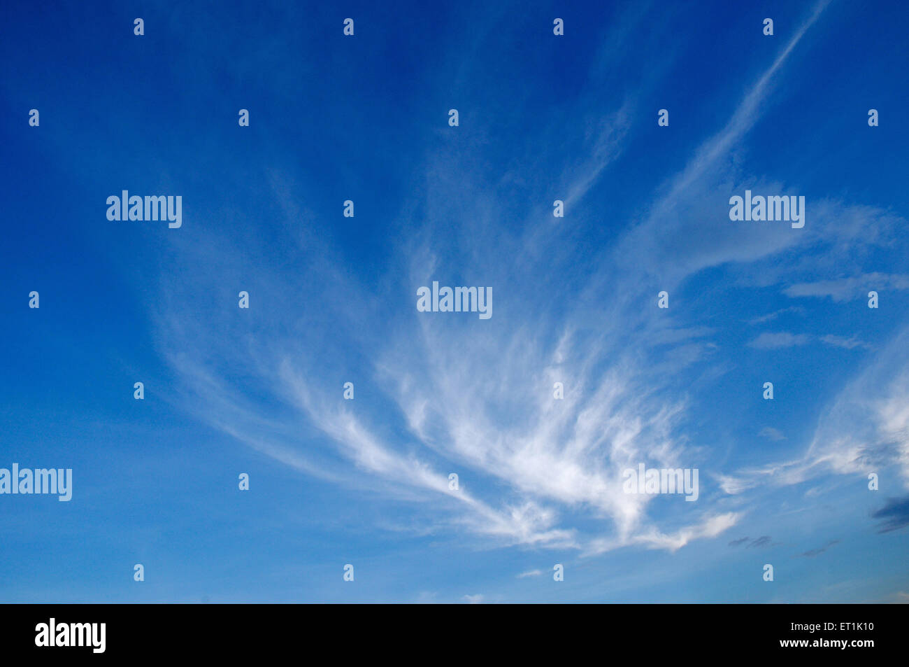 White cloud formation against blue skies 17 November 2009 - Stock Image