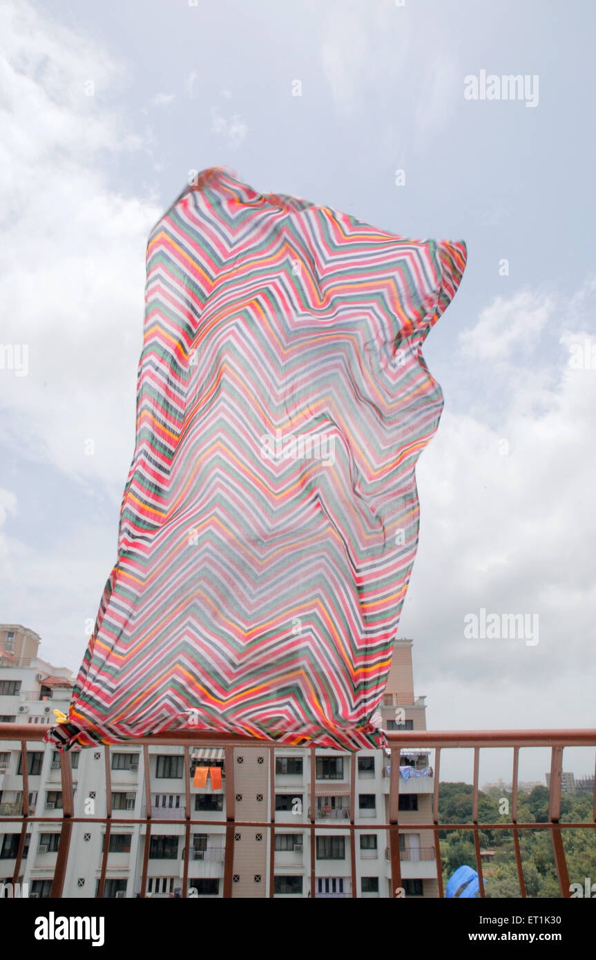 Cloth flying in wind 4 August 2010 - Stock Image