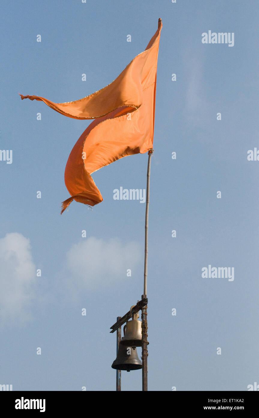 Flag Fluttering Pune Maharashtra India Asia Oct 2011 - Stock Image