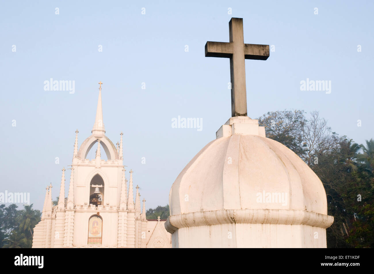 Church of Mae De Deus Goa Maharashtra India Asia March 2011 - Stock Image