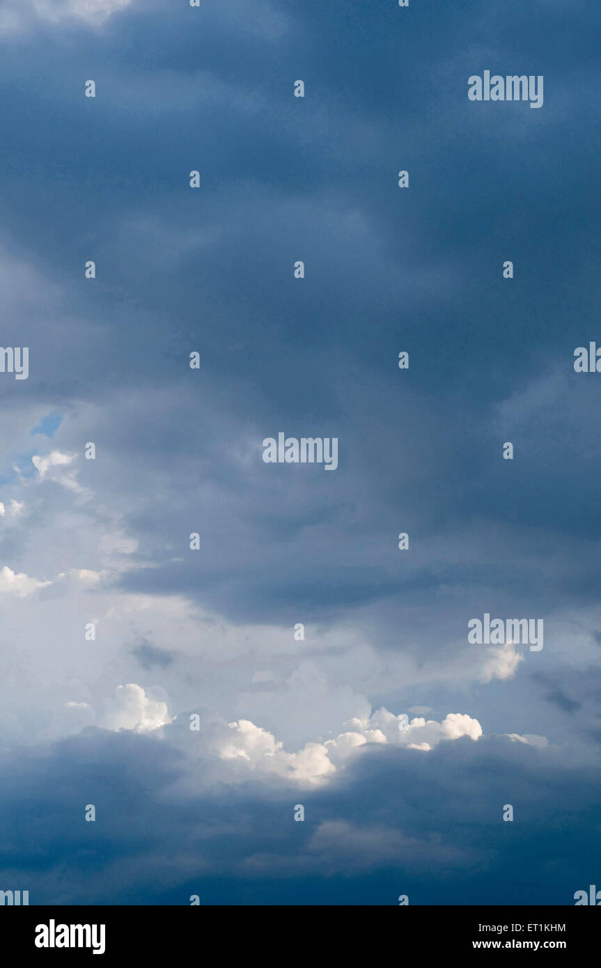 natural phenomenon of cloud formations in Pune at Maharashtra India Asia - Stock Image