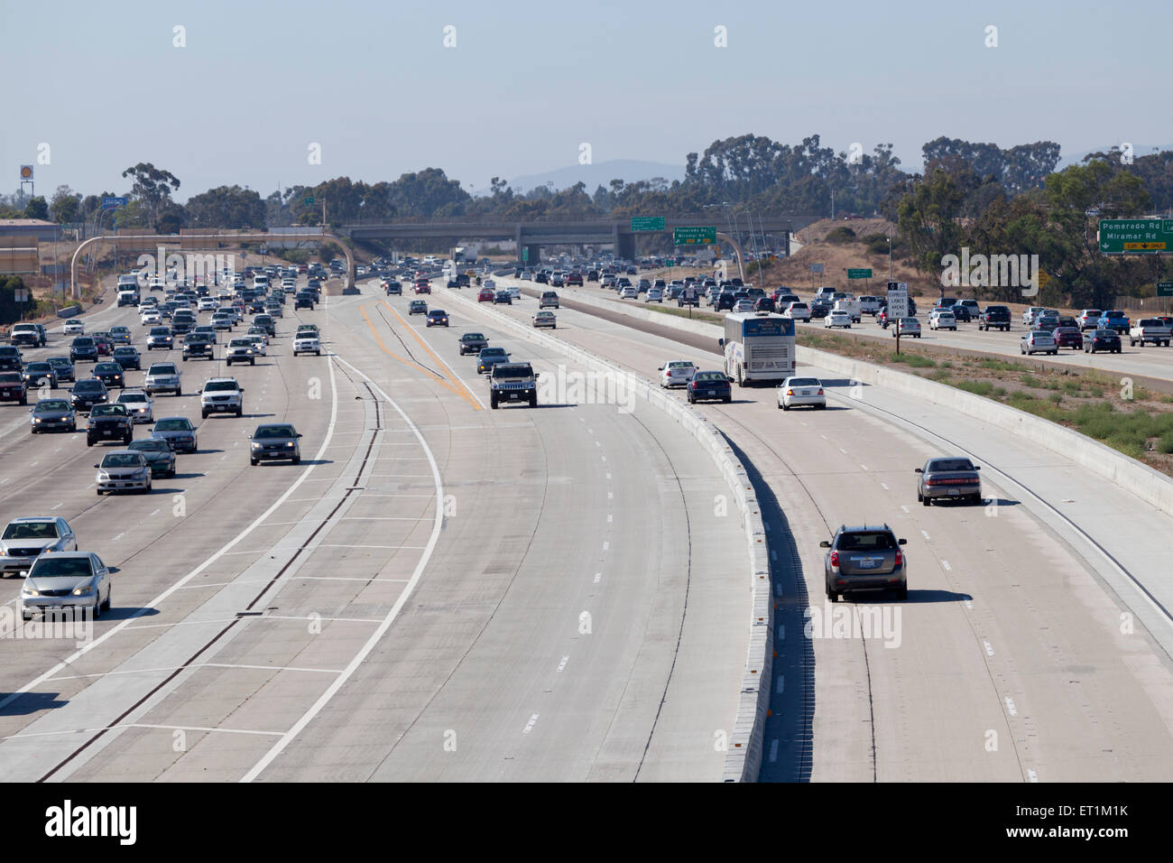 Carpool Lane Rules >> Hov Carpool Lanes Stock Photo 83630895 Alamy