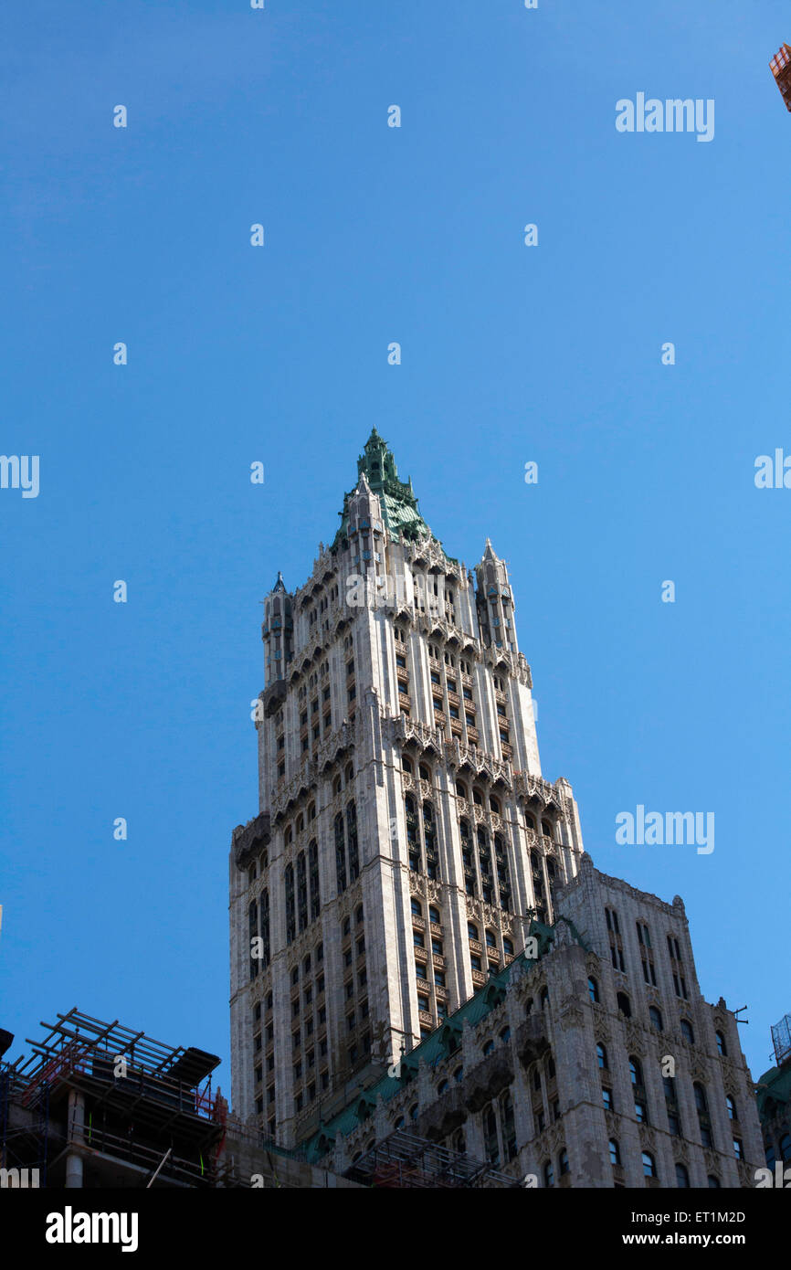 Close Details Woolworth Building Stock Photos & Close