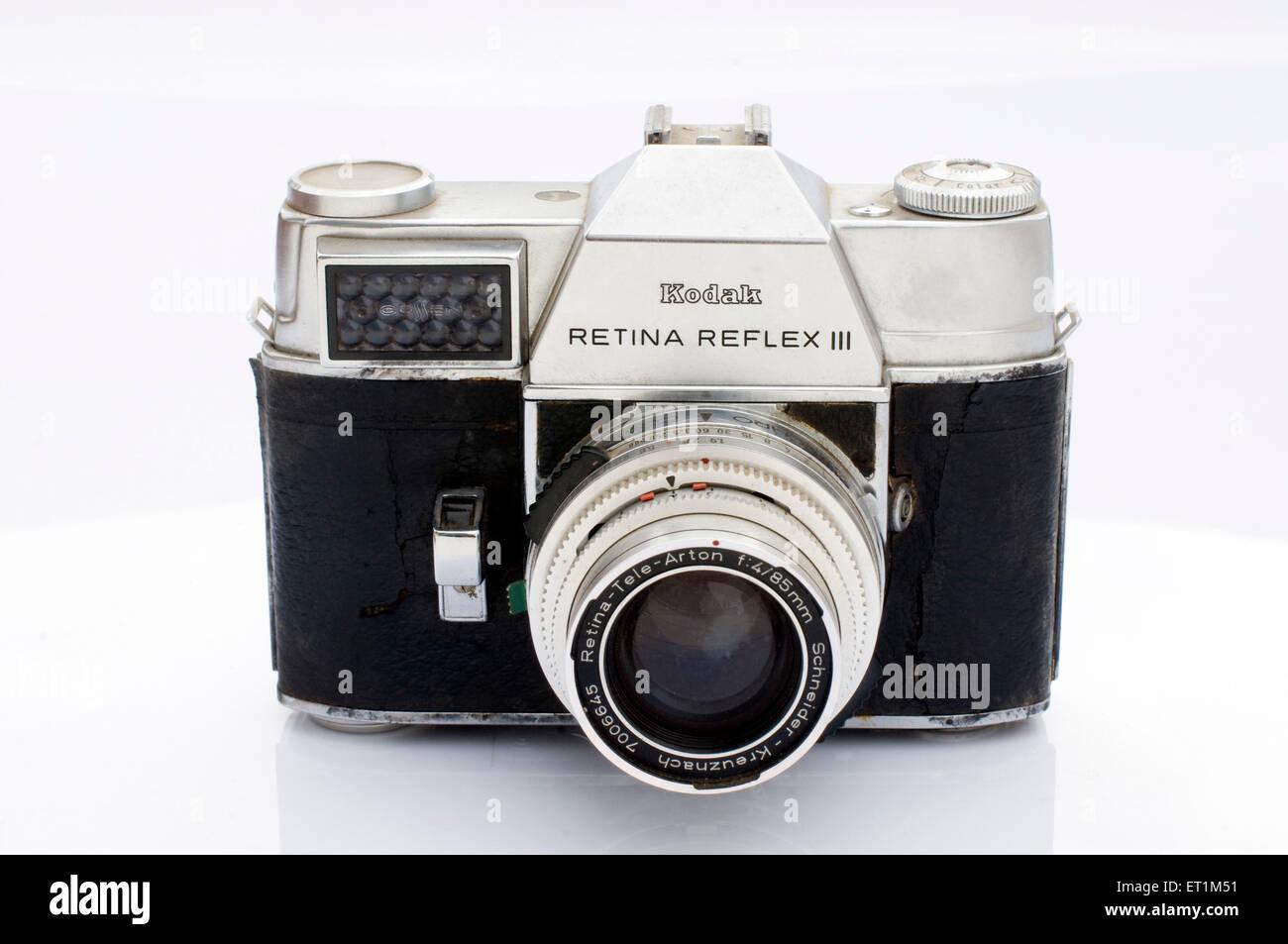 Kodak Retina Reflex III film camera Pune Maharashtra India Asia - Stock Image