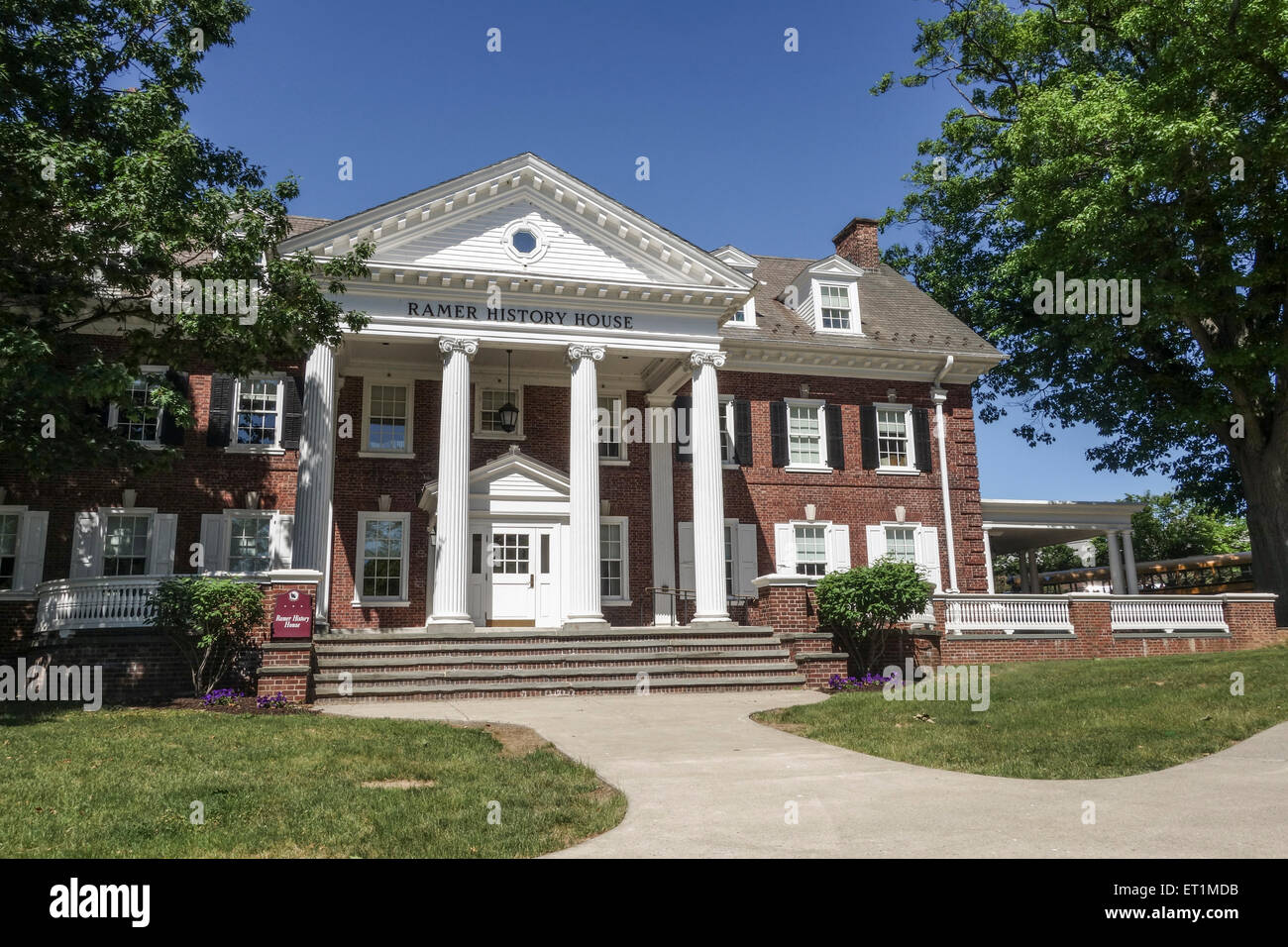 Ramer history house at campus, Lafayette College, private liberal arts college, Easton, Pennsylvania, USA. - Stock Image