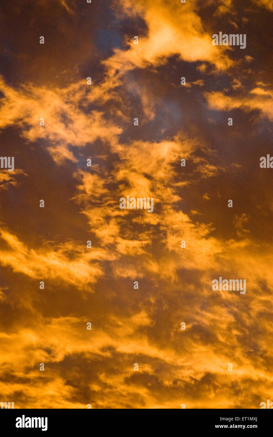Burning red sky at time of sunrise at Chikhaldara