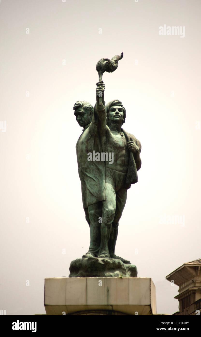 Statue of martyrs at hutatma chowk ; Bombay Mumbai ; Maharashtra ; India - Stock Image